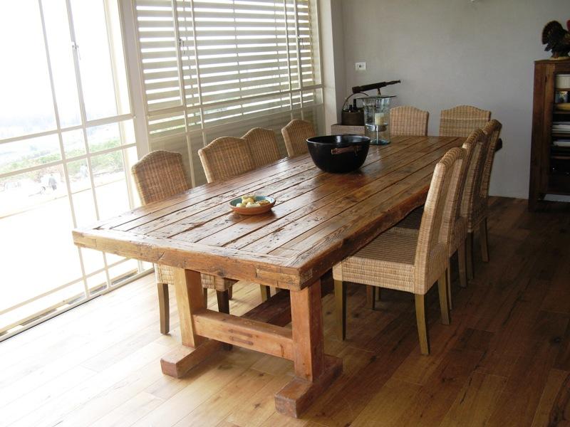 מבריק שולחן עץ מלא :: שולחן עתיק :: ריהוט עתיק שולחן אוכל מעץ מלא עתיק UU-88
